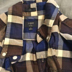 J Crew Plaid Shirt M